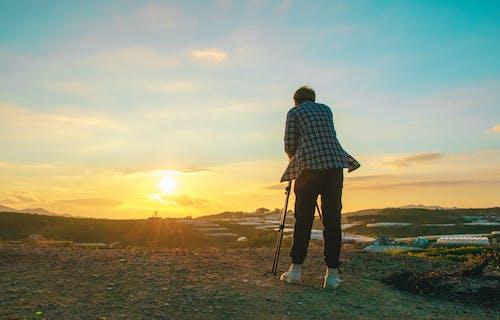 Photos gratuites de adulte, aube, ciel, coucher de soleil