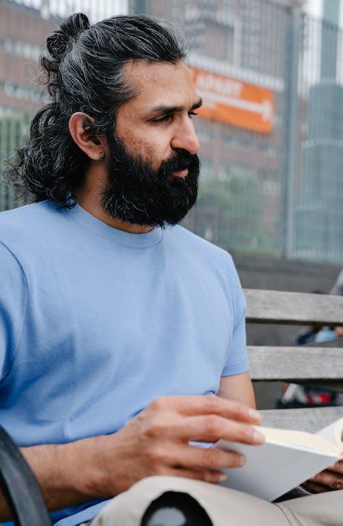 검은 머리, 긴 머리, 남자의 무료 스톡 사진