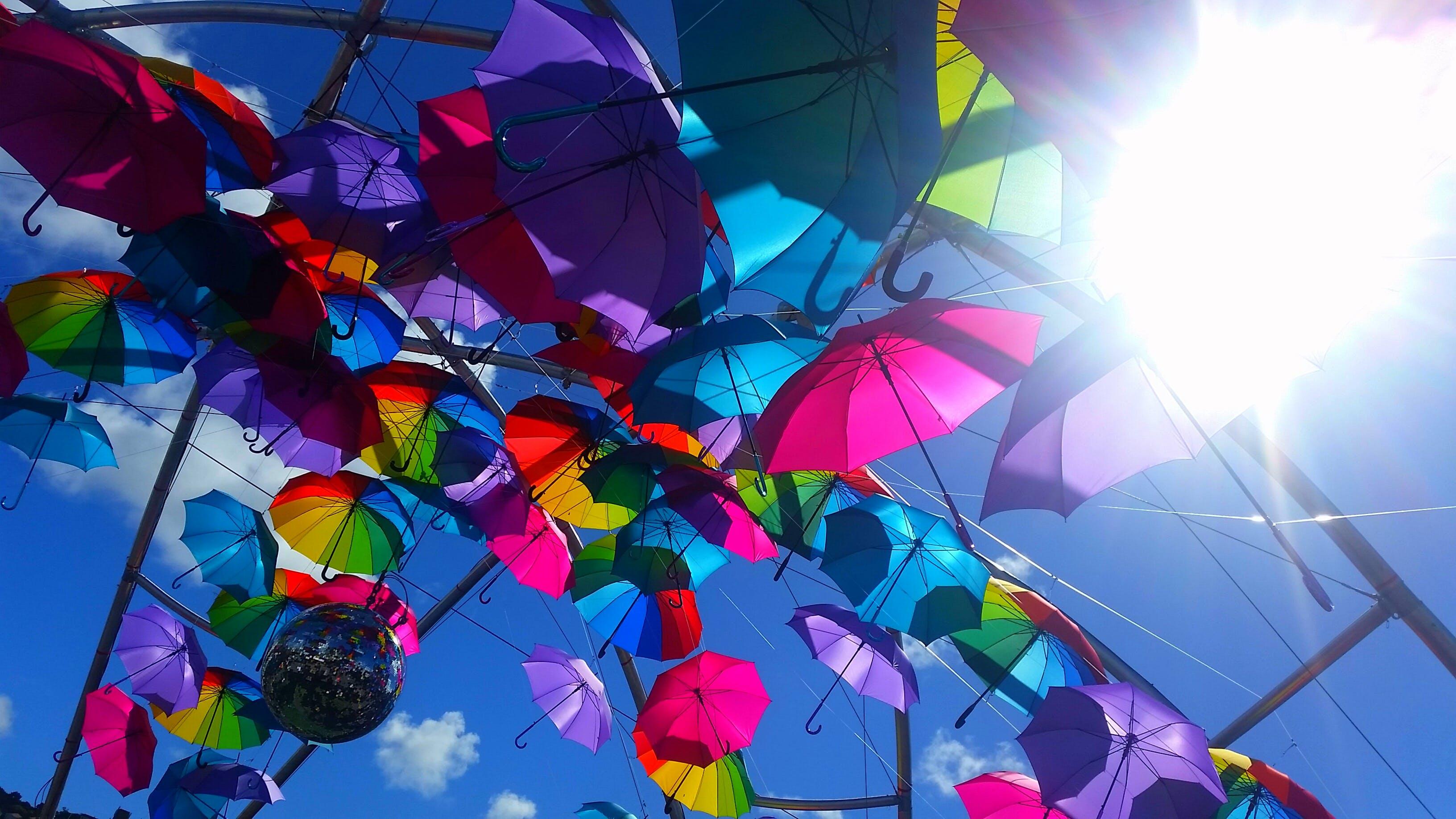 Free stock photo of sky, sun, blue sky, color