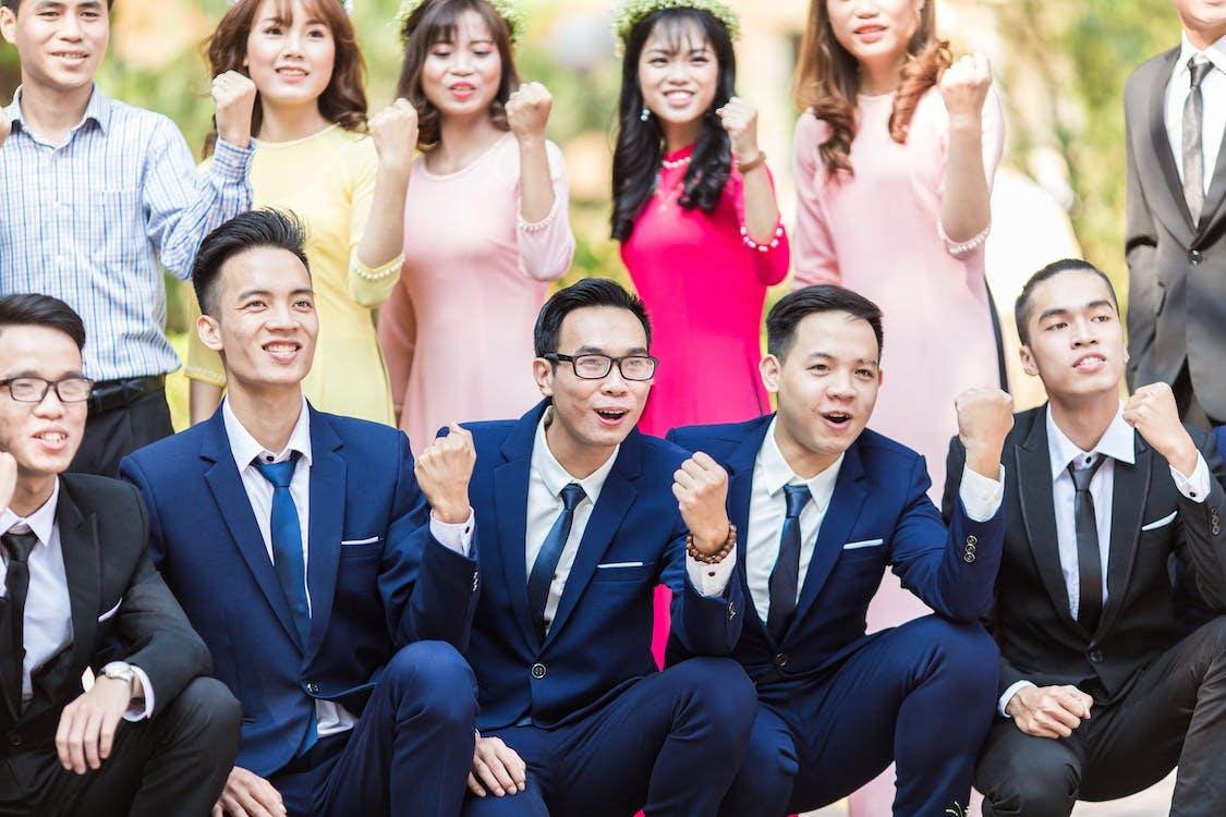 agrupar, amics, asiàtics