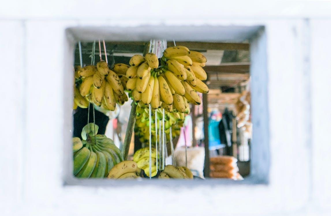 abondance, bananes, couleurs