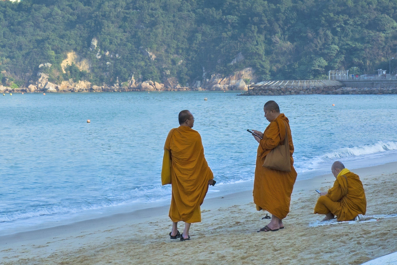 Free stock photo of beach, male, modern, monk