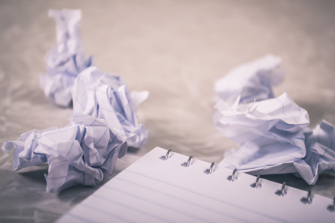 Close-Up Photography of Crumpled Paper