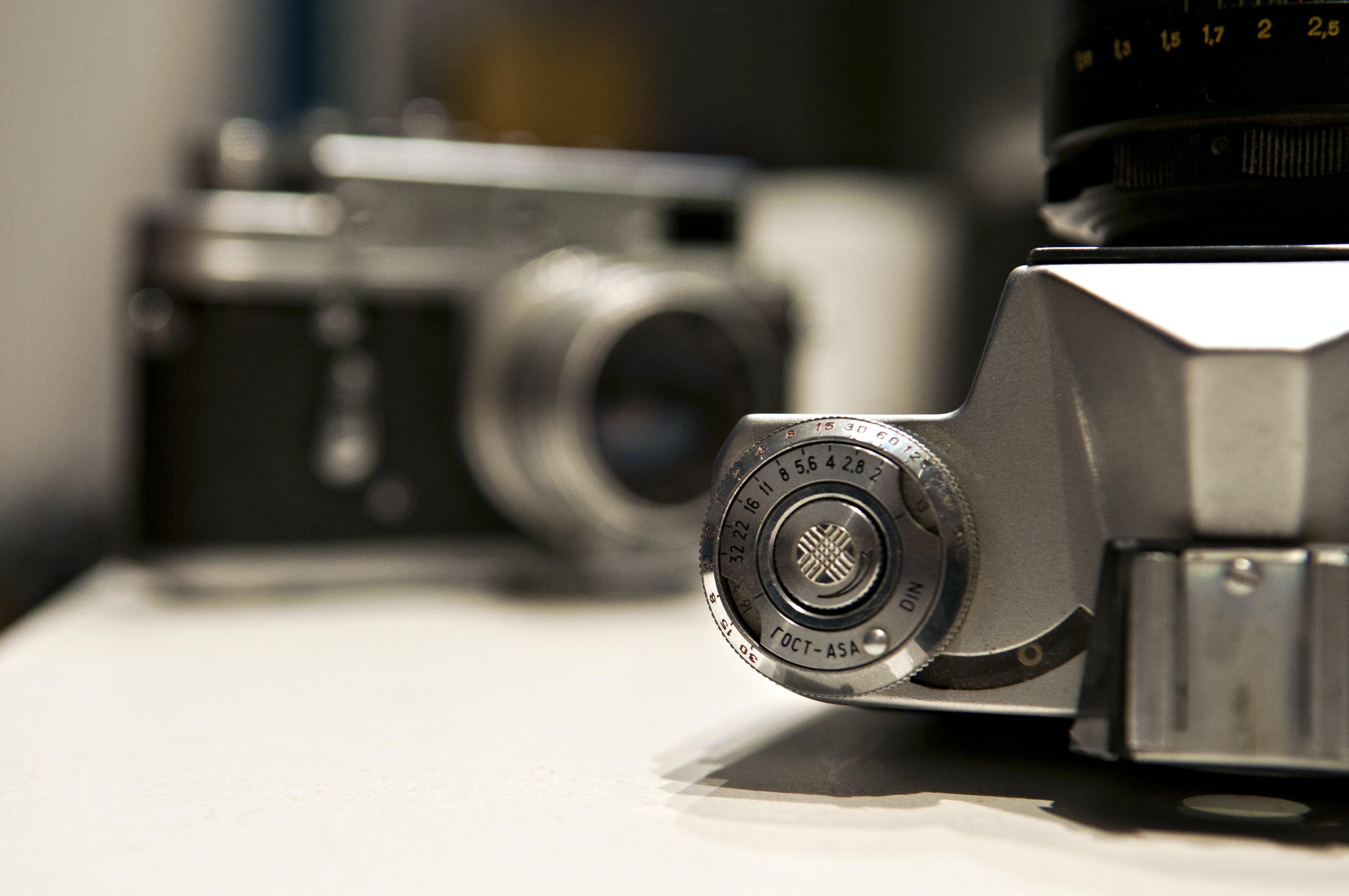 camera, closeup, old