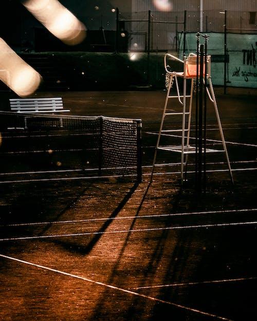 An Empty Tennis Court