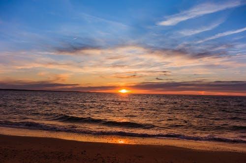 Gratis lagerfoto af hav, solnedgang