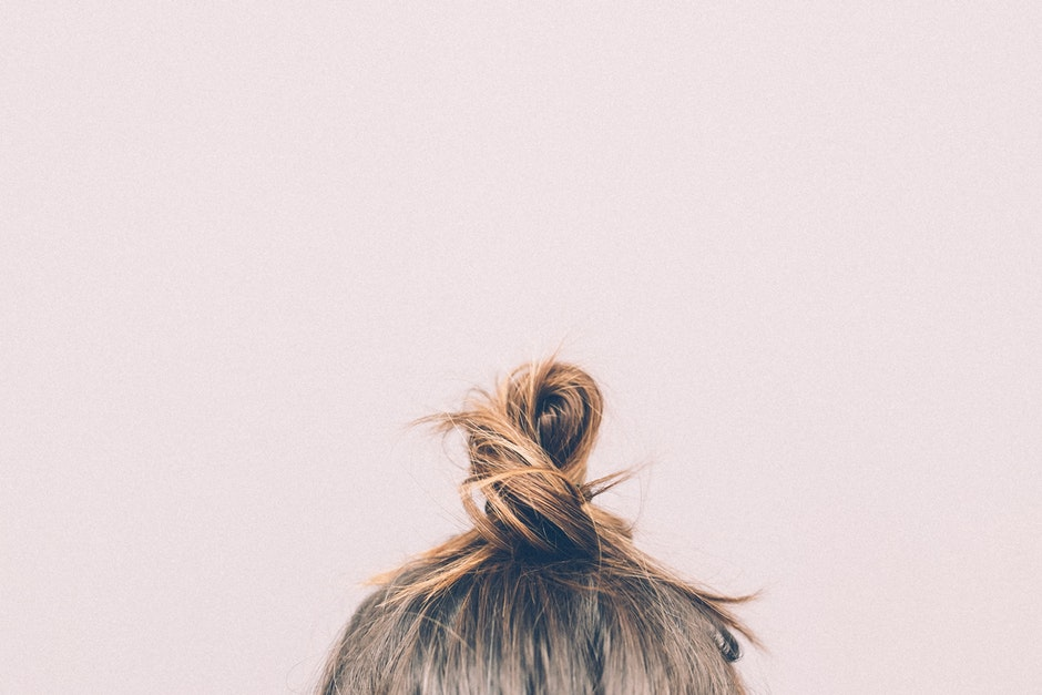 bun, girl, hairs
