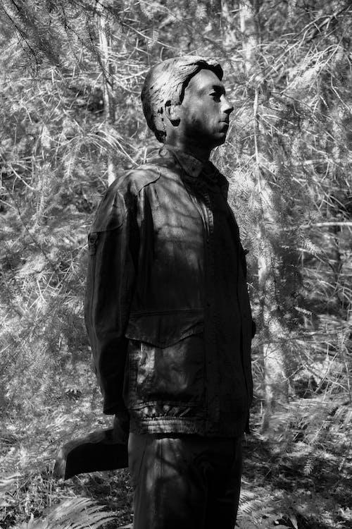 Free stock photo of art, black and white, greek statue