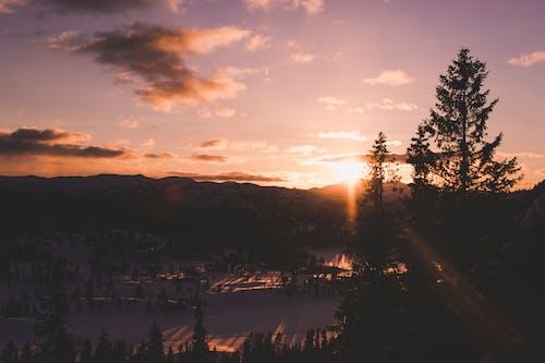 Δωρεάν στοκ φωτογραφιών με αντανάκλαση, απόγευμα, βουνά, γραφικός