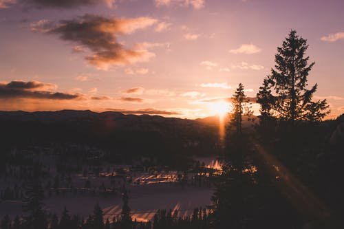 Fotobanka sbezplatnými fotkami na tému exteriéry, hory, krajina, magická hodina