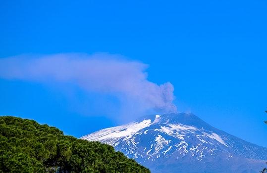 Kostenloses Stock Foto zu natur, himmel, rauch, vulkan