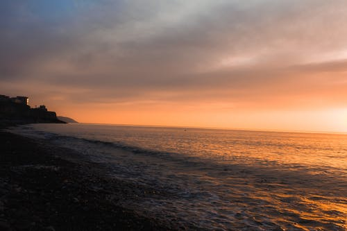 Photos gratuites de ciel nuageux, étendue d'eau, faire signe