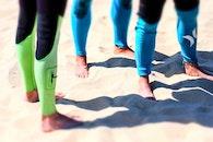 beach, people, sand