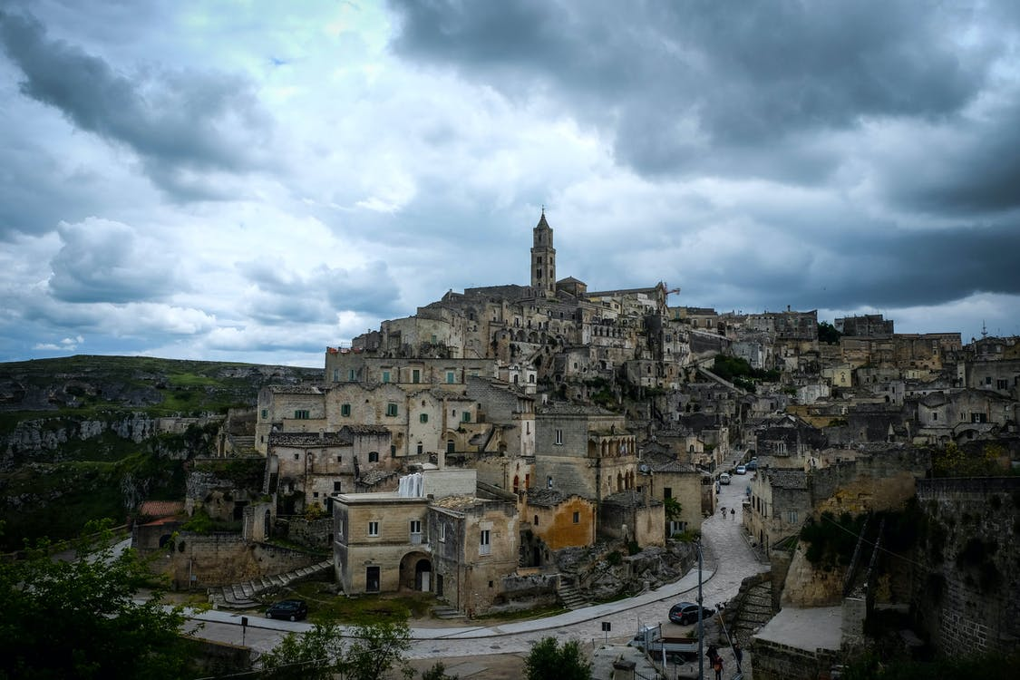 couvert, italie, matera