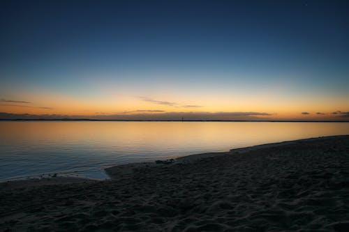 天性, 岸邊, 日落, 海 的 免费素材照片