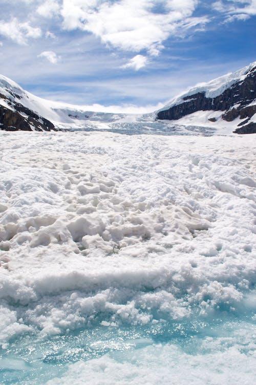 bulutlar, buz, buzlanmış, dağ içeren Ücretsiz stok fotoğraf