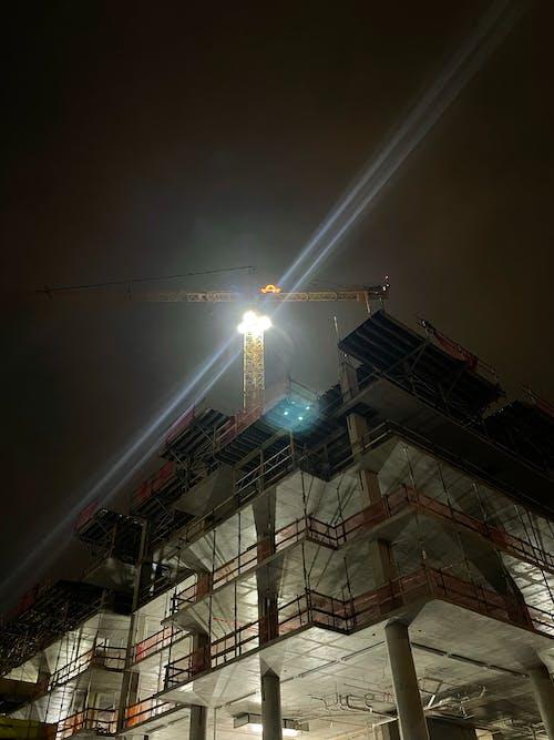 Free stock photo of building, city, crane