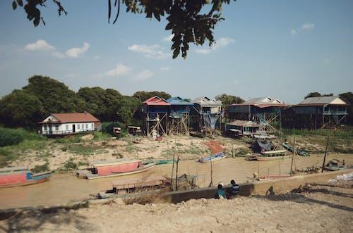 Kostenloses Stock Foto zu asien, dorf, kambodscha