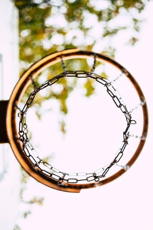 Foto d'estoc gratuïta de anella de la cistella de bàsquet, Aro, arrodonir, arrodonit