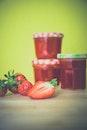 food, jam, strawberries