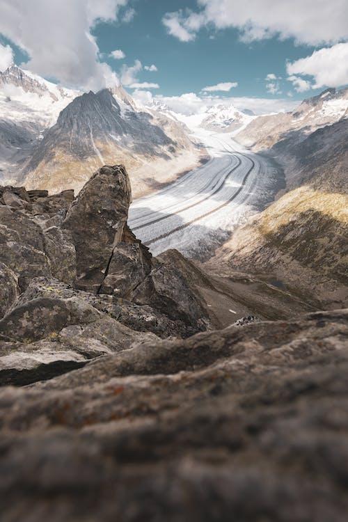 คลังภาพถ่ายฟรี ของ ธารน้ำแข็ง, น้ำแข็ง, ภูเขา