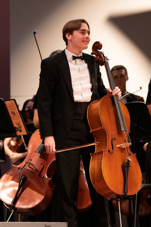 Free stock photo of cello, concert, high school