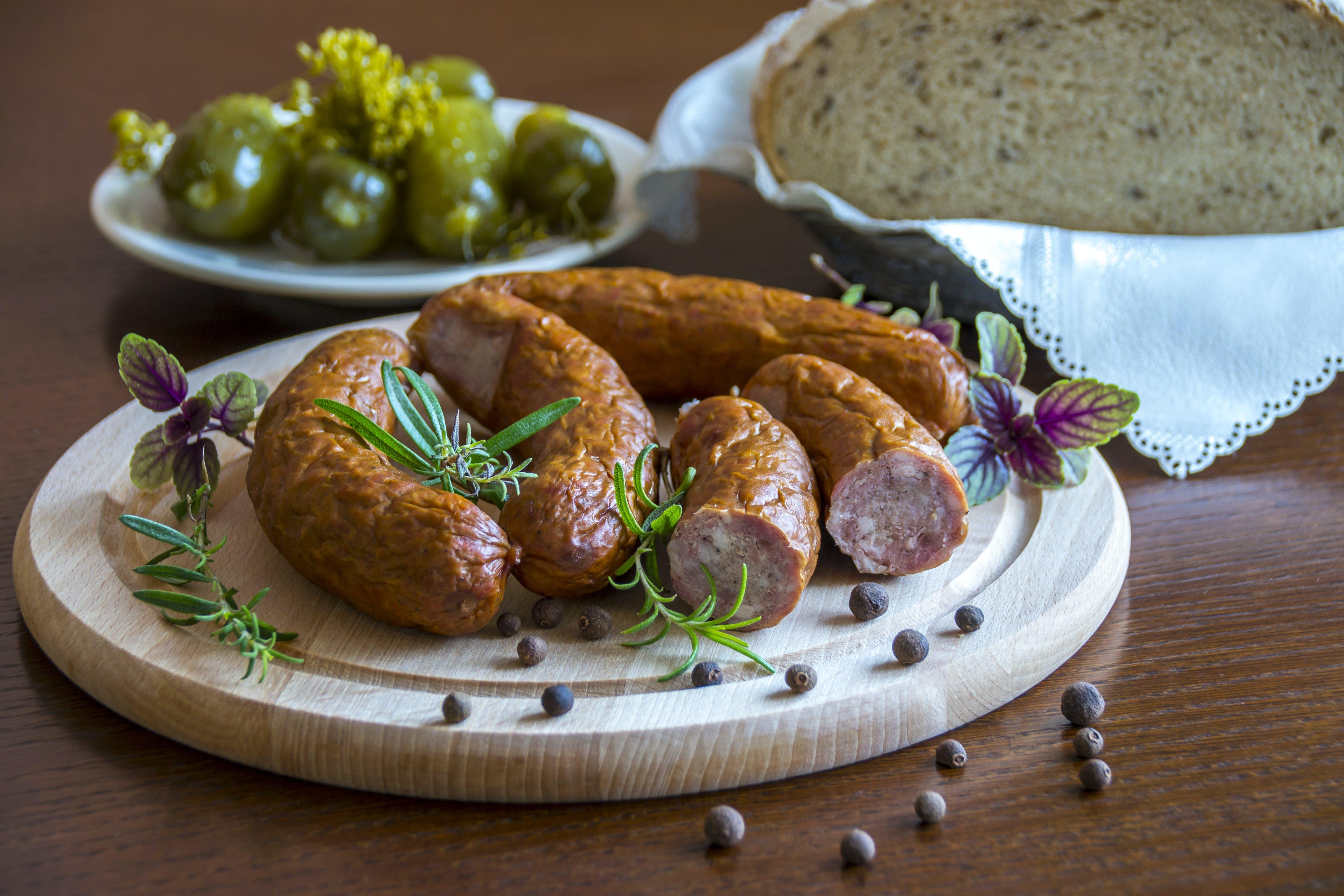 Brown Hotdog on a Brown Plate