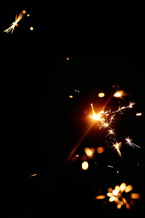 Sparky flashes coming from sparkler