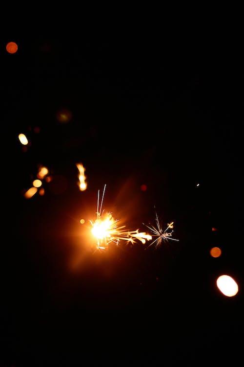 Close-Up Photo of a Burning Sparkler