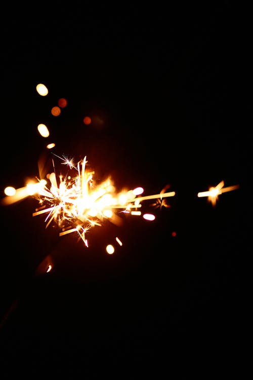 Abstract photo of sparks on black background