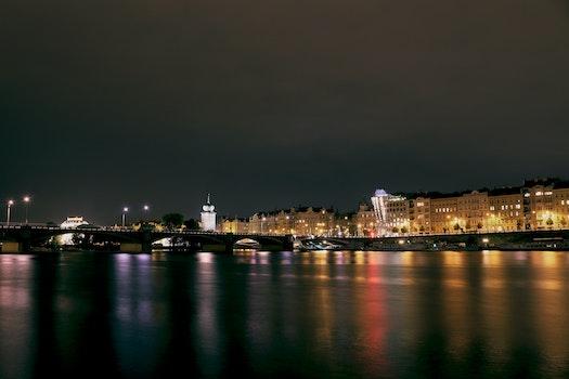 Free stock photo of city, lights, night, buildings