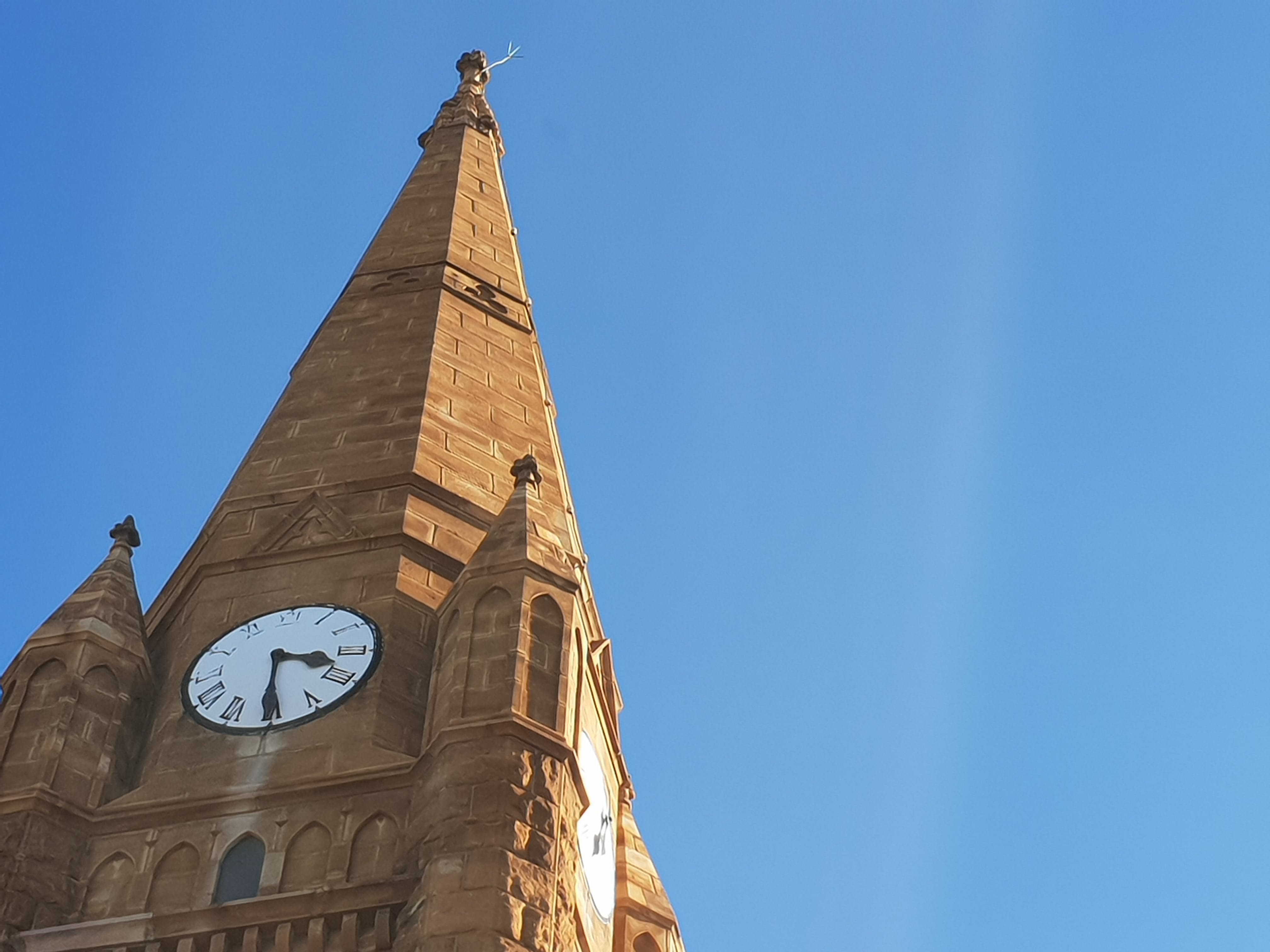 Photo of Brown Clock Tower