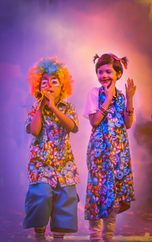 Free stock photo of clown, clown kids