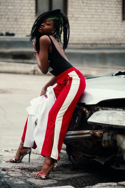 アフリカ系アメリカ人女性, スタイル, ファッション, ヘアの無料の写真素材