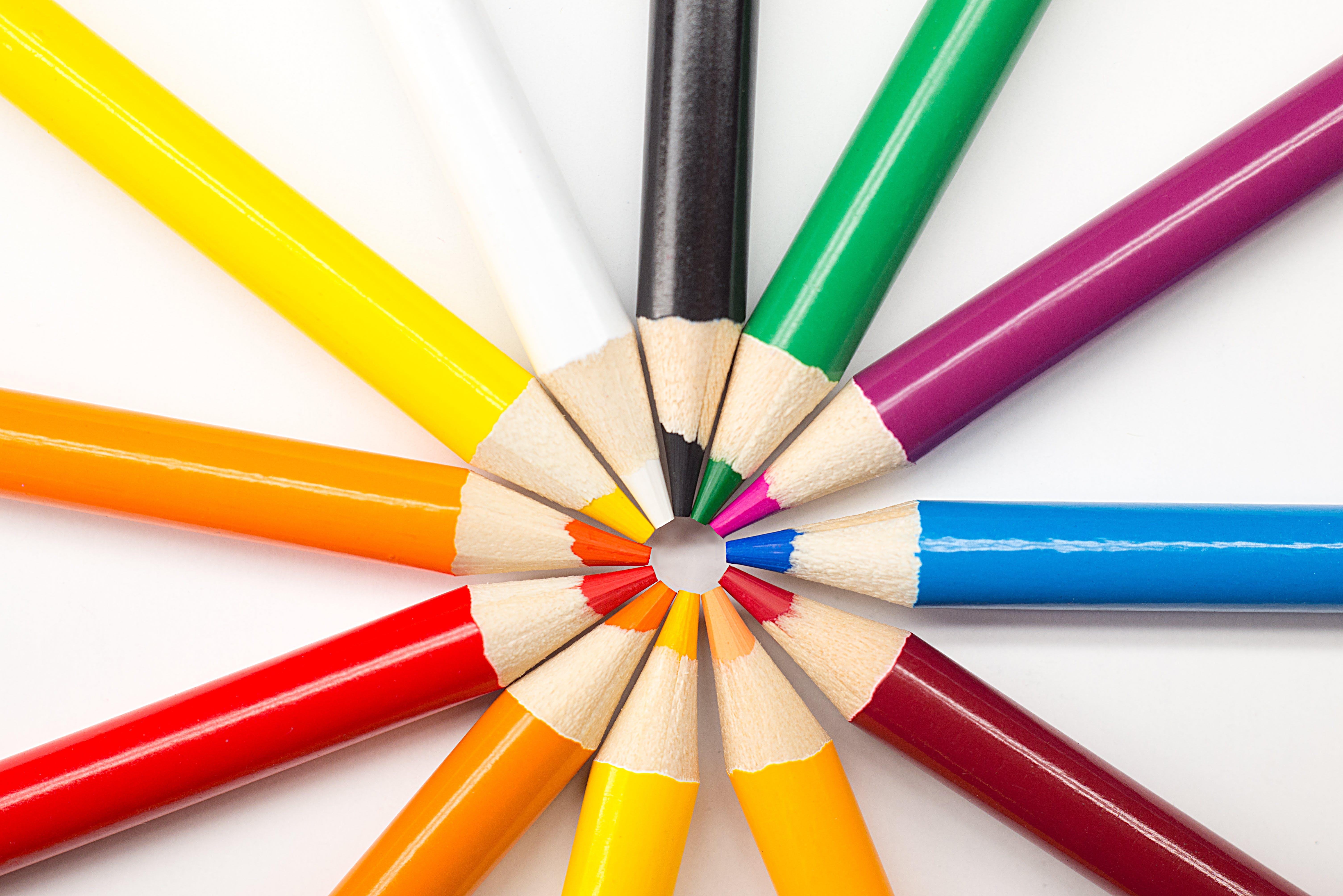 Gratis arkivbilde med blyanter, fargeblyant, fargede blyanter, farger