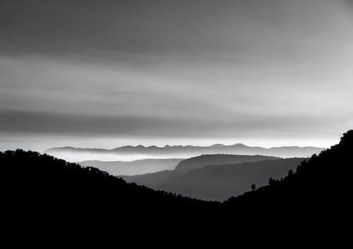 Fotos de stock gratuitas de amanecer, blanco y negro, Desierto