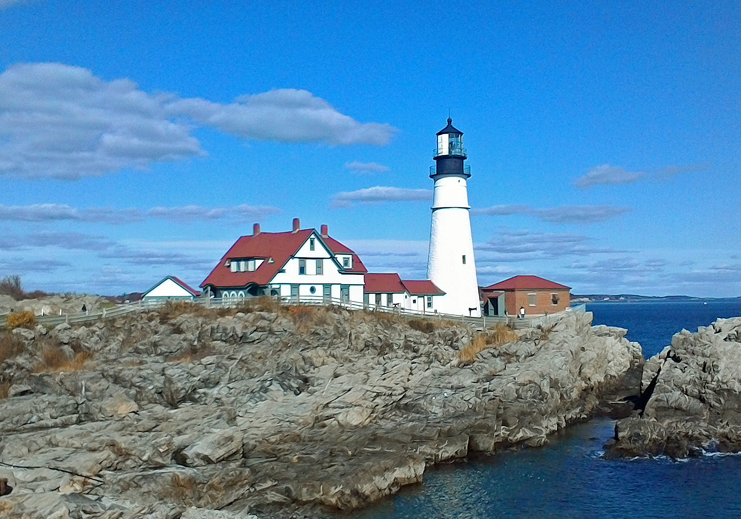 Free Stock Photo Of Lighthouse On The Rocks