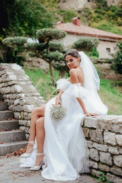 Gratis stockfoto met aantrekkelijk mooi, bruid, bruidegom