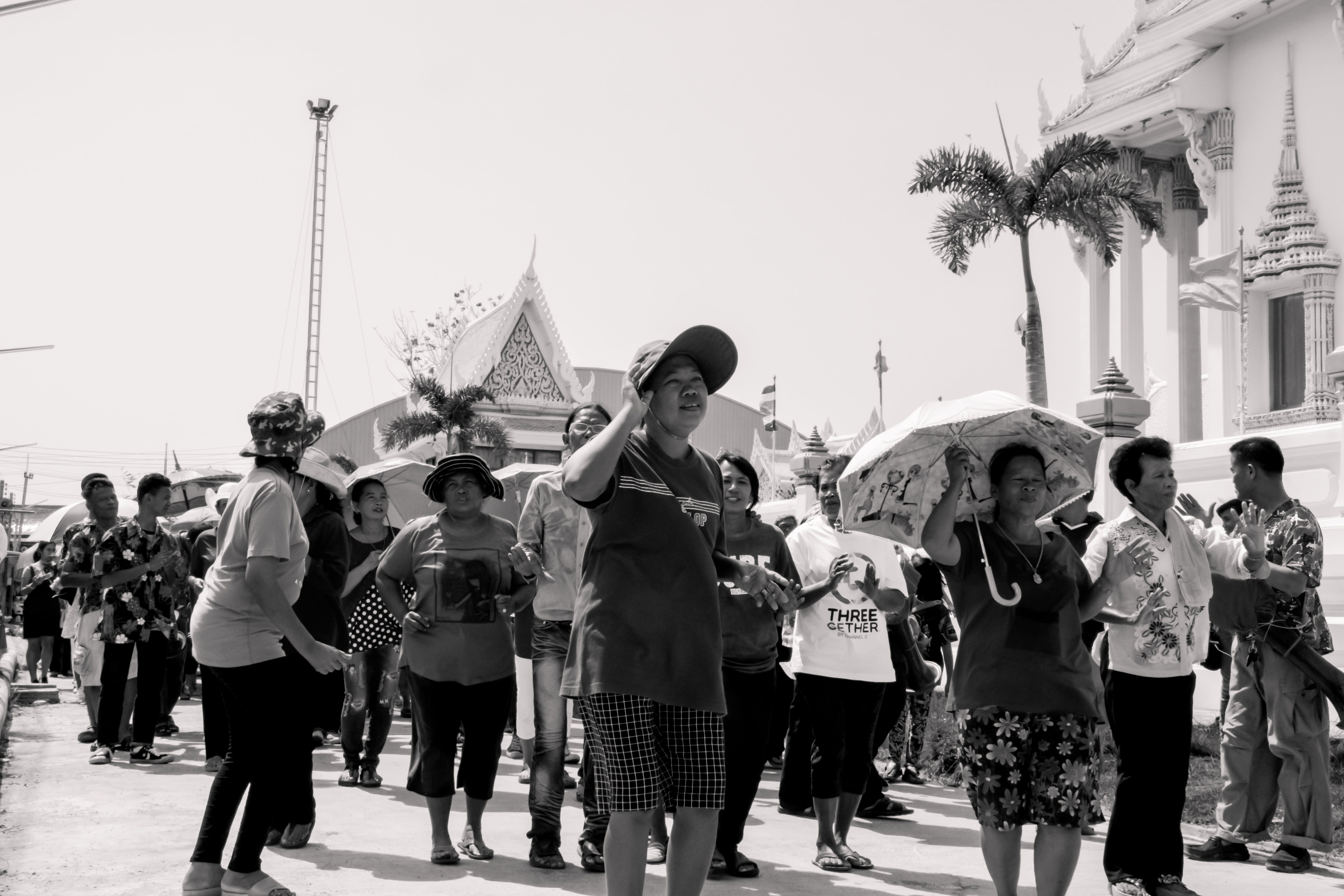 Free stock photo of black-and-white, festival, temple