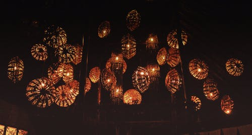 Free stock photo of darkness, Jim Corbett, lanterns, yellow lights