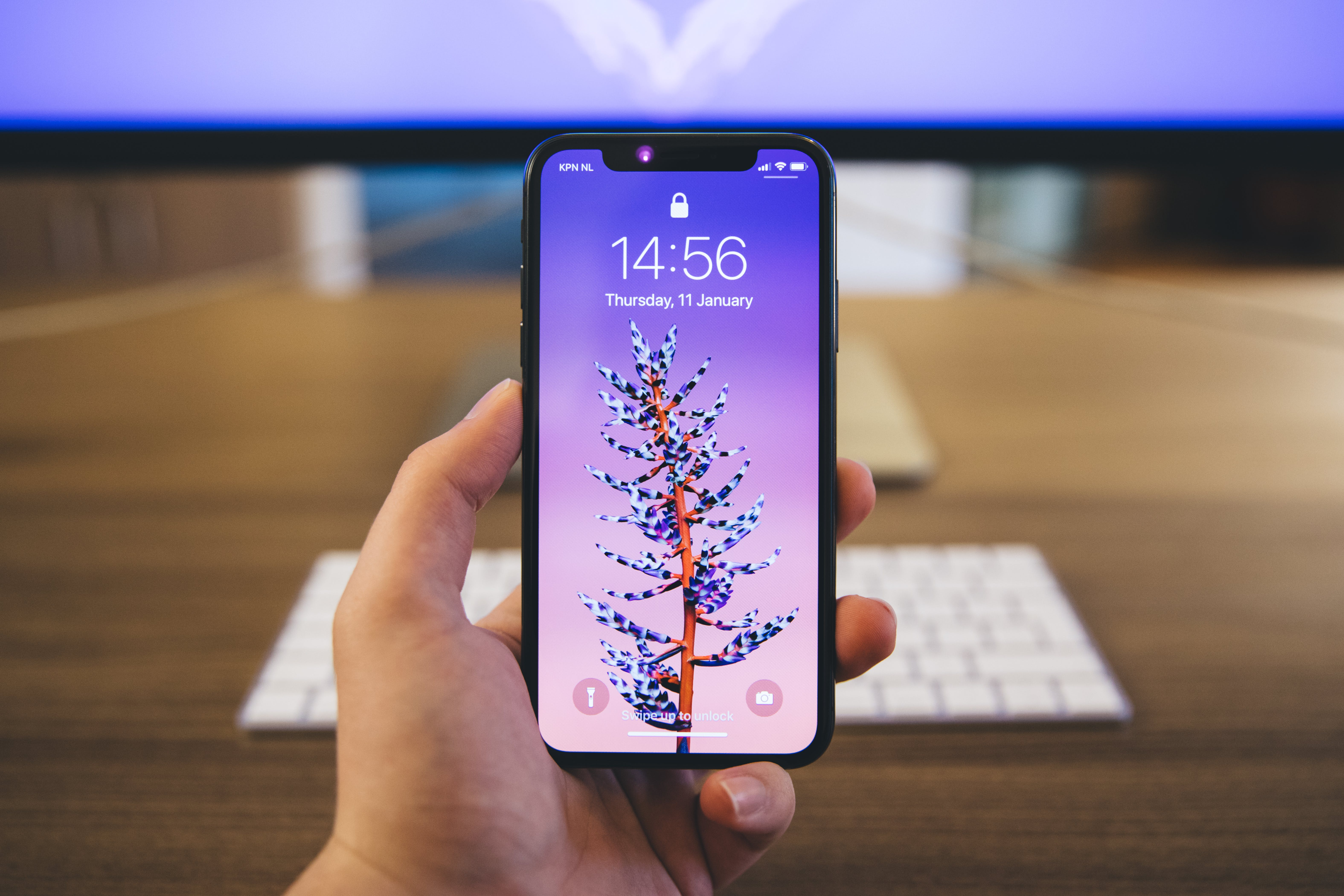 Person Holds Space Gray Iphone X