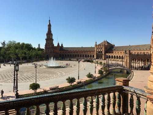 espaã ± bir, plaza, sevilla içeren Ücretsiz stok fotoğraf