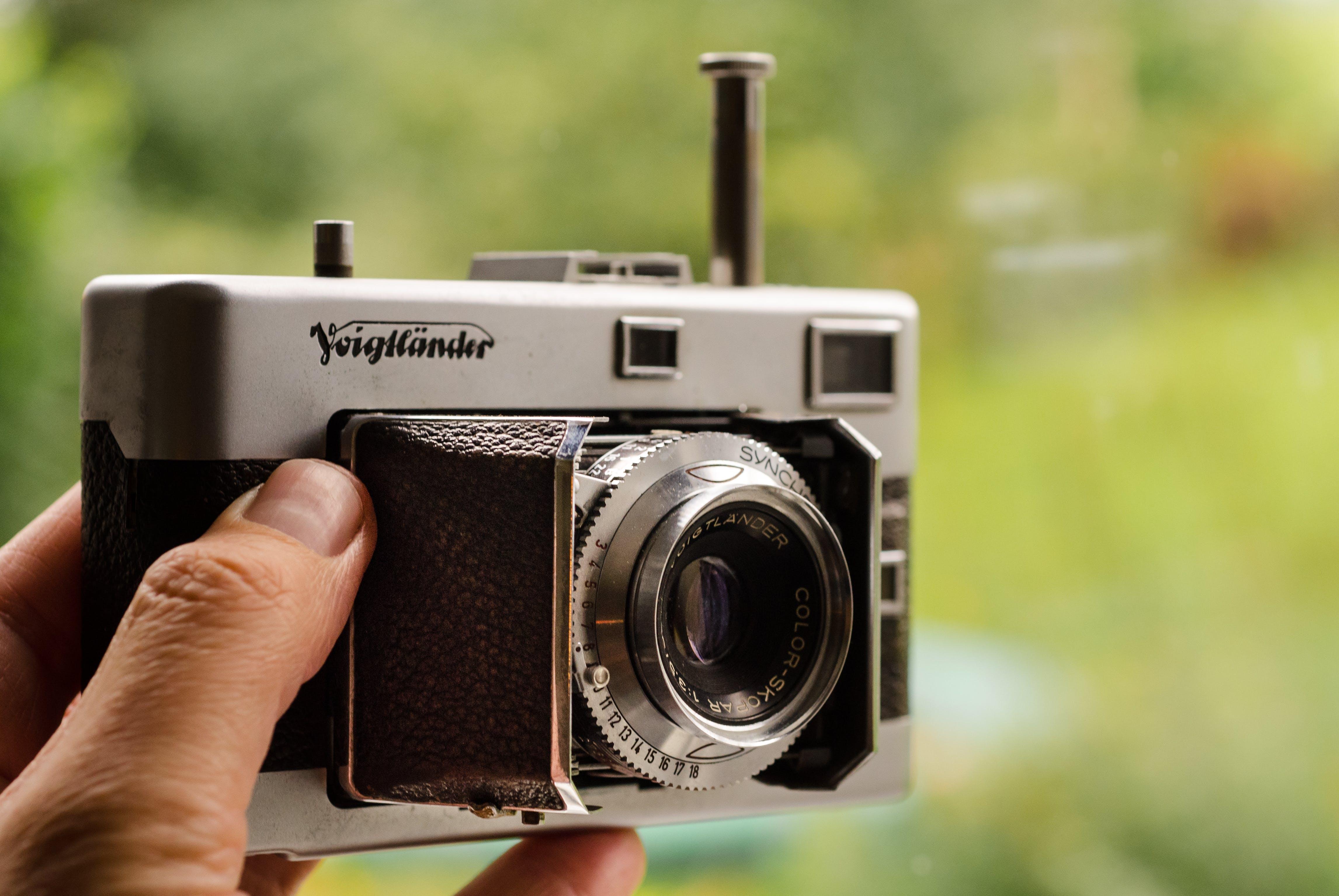 analóg, felszerelés, fényképezőgép