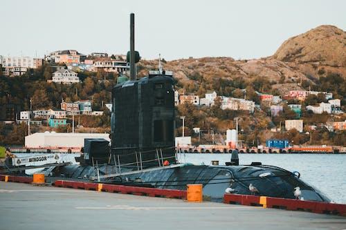 Black and Brown Ship on Sea