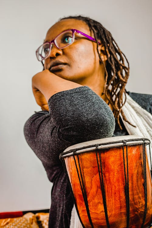 Free stock photo of african model, djembe, drum