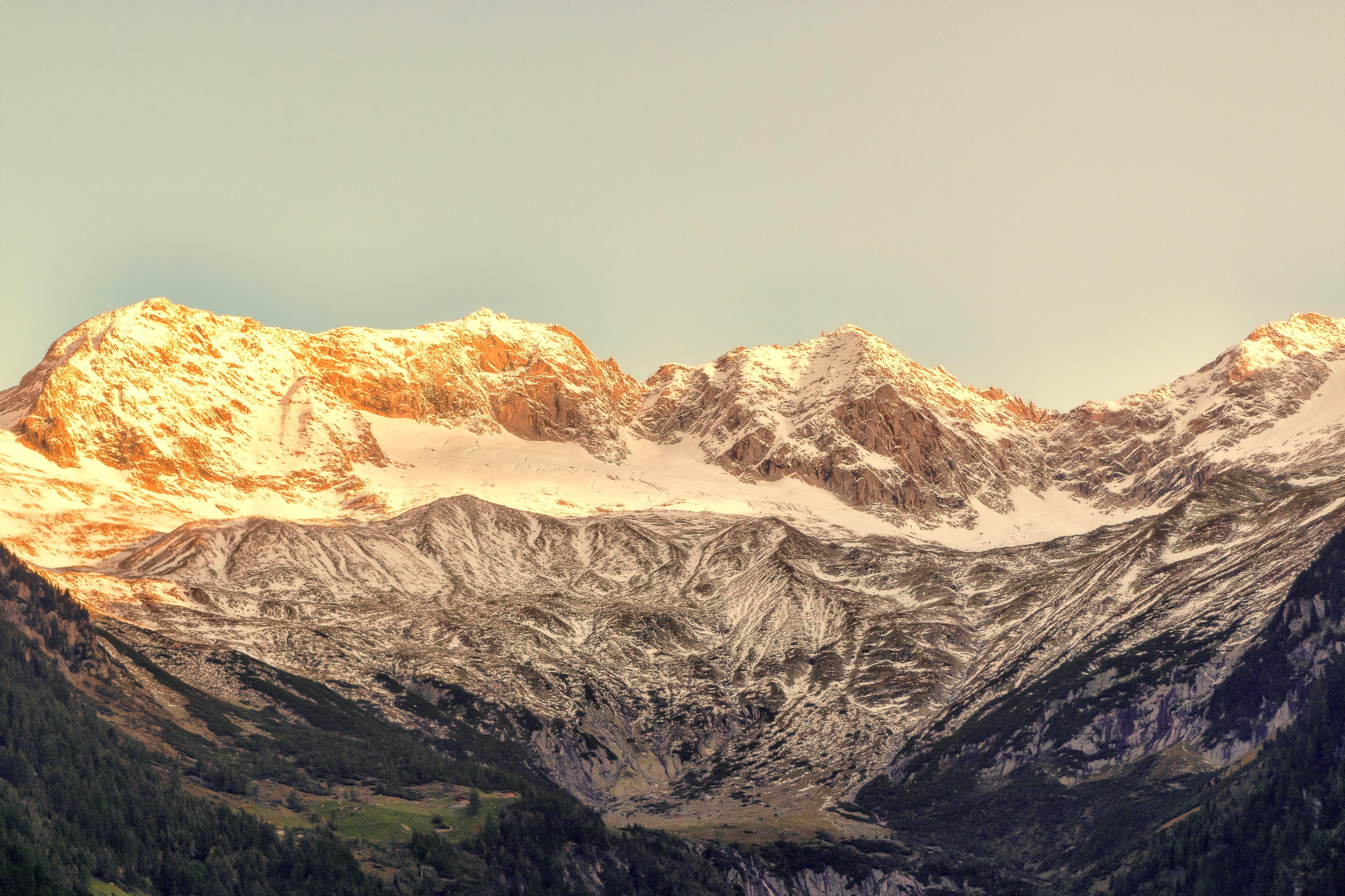 Gray Snowy Mountain