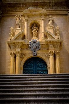 Free stock photo of stairs, landmark, building, yellow