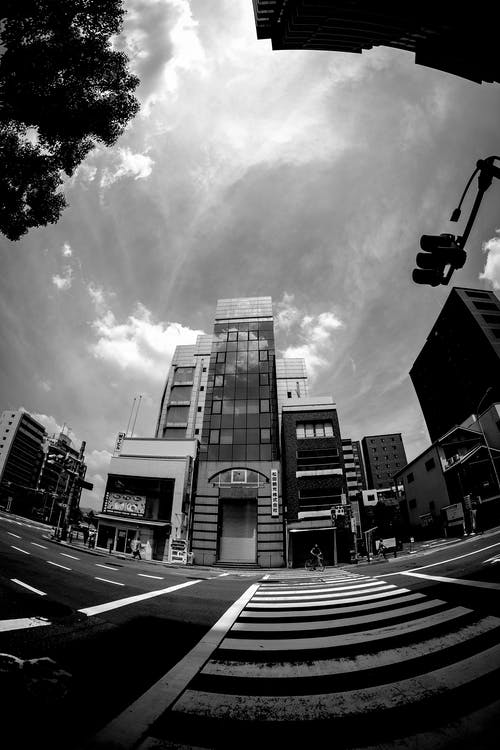 Grayscale Photo Ogf High Rise Bulding