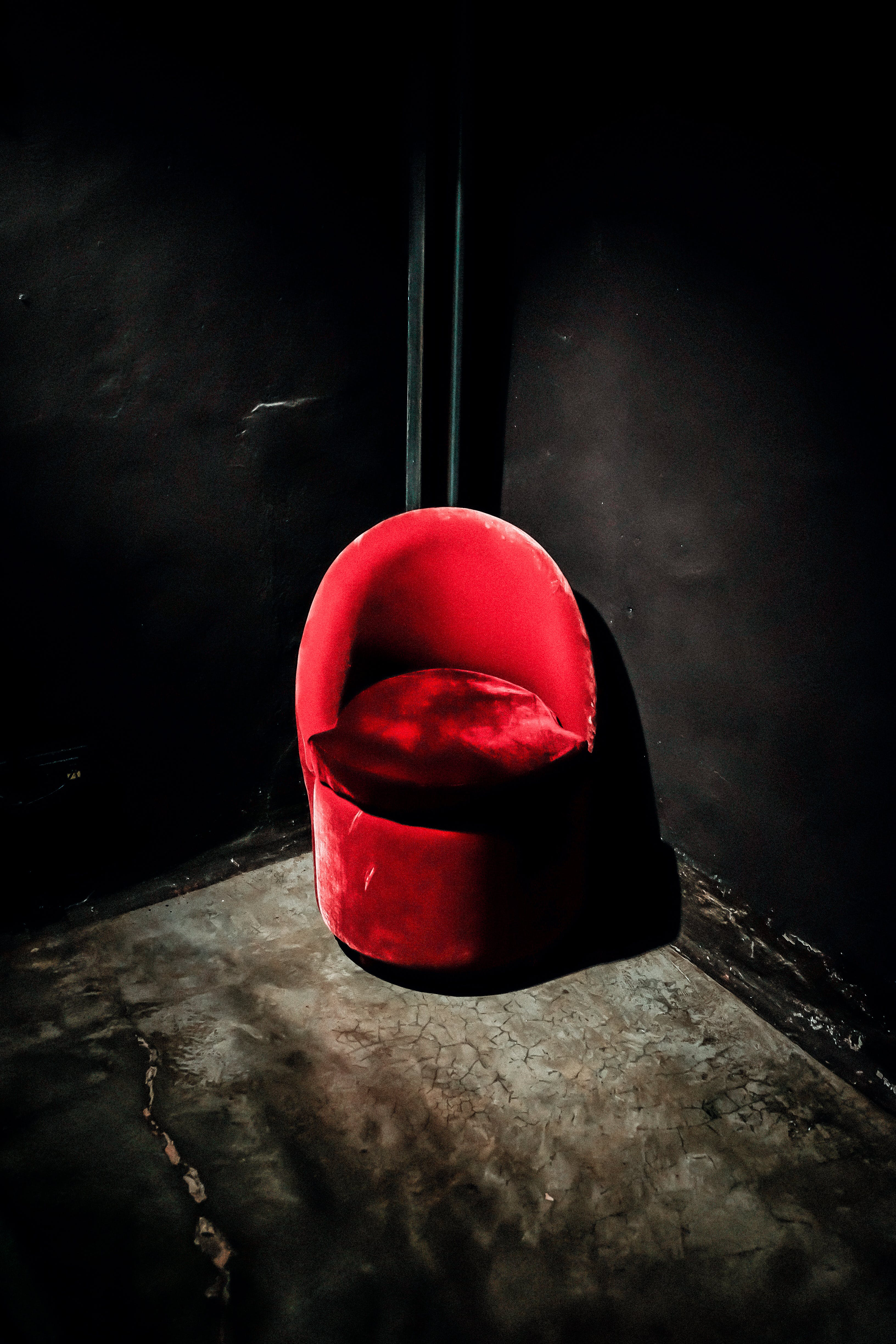 Red Suede Chair