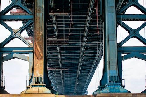 列, 基础, 橋, 鋼 的 免费素材照片